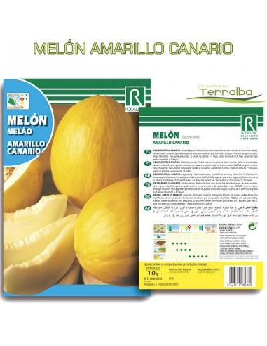 SEMILLAS MELÓN AMARILLO CANARIO