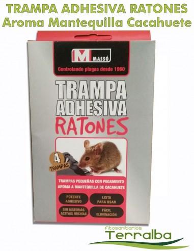 TRAMPA RATONES ADHESIVA AROMA CACAHUETE