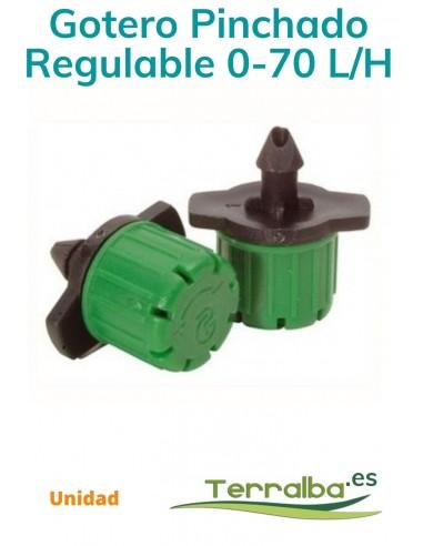 Gotero Pinchado Regulable 0-70 l/h