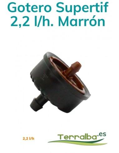 Gotero Supertif Autocom. 2,2 l/h Marrón