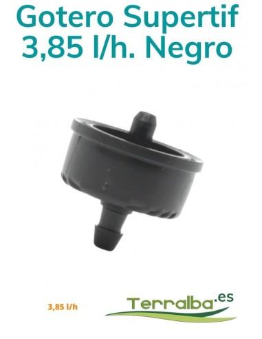 Gotero Supertif Autocom. 3,85 l/h Negro