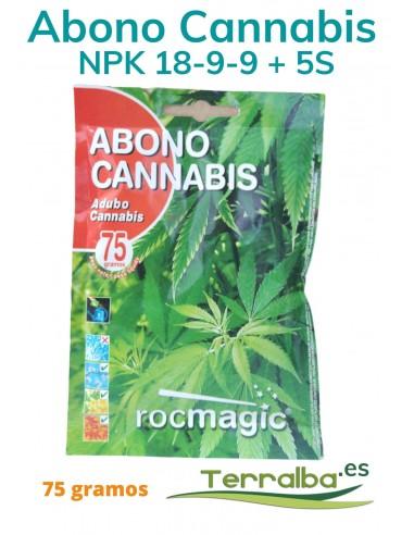 Abono Cannabis NPK 18-9-9 + 5S