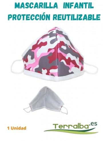 Mascarilla Protección Infantil Rosa...