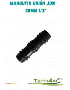 "Manguito de unión exudación JDW 20 mm 1/2"""