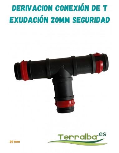 Derivación conexión de T seguridad 20 mm Terralba