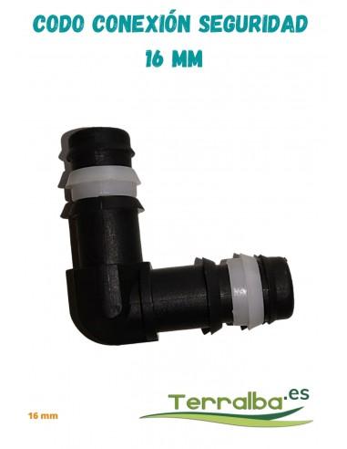 Codo conexión seguridad 16 mm Terralba
