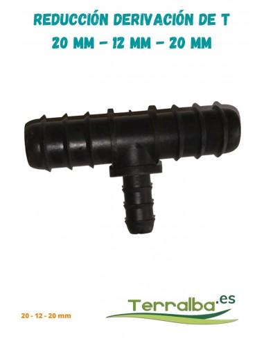 Reducción derivación conexión de T  20 mm - 12 mm - 20 mm Terralba