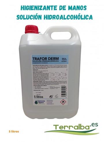 Solución hidroalcohólica higienizante de manos Trafor Derm Quimicamp, terralba desinfectante
