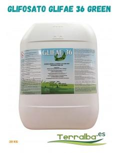 Herbicida Sistémico Glifosato Glifae 36 Green contra las malas hierbas 20 litros Terralba